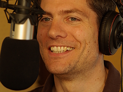 Ingo Zamperoni im Radio Klinikfunk Studio